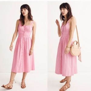 Madewell pink buttoned sundress